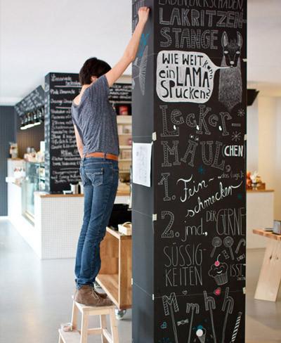 M s ideas originales para usar pintura de pizarra - Pintura de pizarra para pared ...