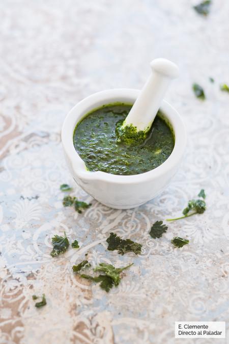 Mojo verde de cilantro: Receta canaria