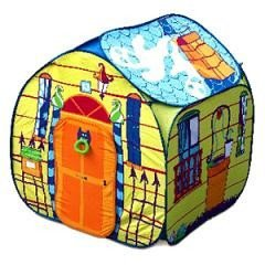 Una casita plegable para jugar