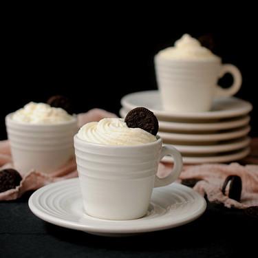 Crema de oreo, yogur y chocolate blanco: receta fácil, rápida y ¡sin horno!