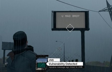 A Watch Dogs le gustan los memes... en los carteles informativos