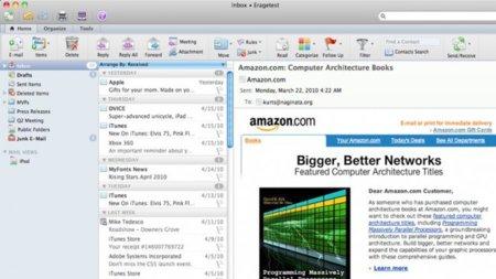 Outlook 2011 para Mac utiliza Webkit para renderizar elementos web