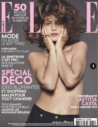 Laetitia Casta desnuda para Elle