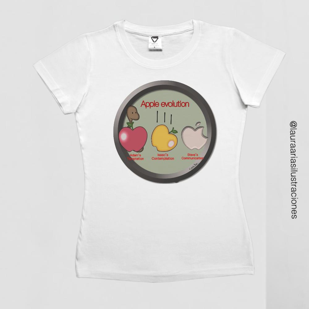 Camiseta 'Apple Evolution'