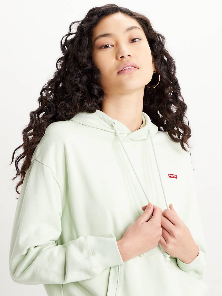 Sudadera verde menta con capucha