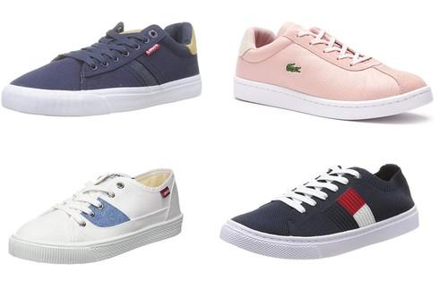 9 zapatillas casual en oferta en tallas sueltas de marcas como Levi's, Lacoste o Tommy Hilfiger disponibles en Amazon