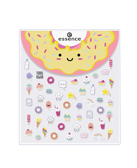 Ess Happy Kawaii Face Nail Stickers Front View