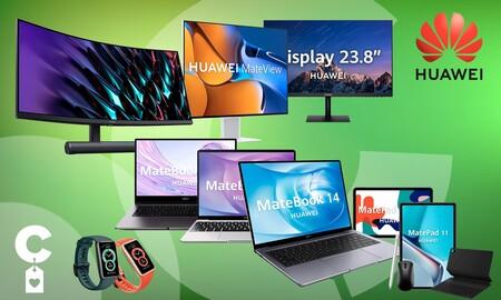 Monitores, portátiles, tabletas o pulseras deportivas Huawei a precios de chollo en Amazon
