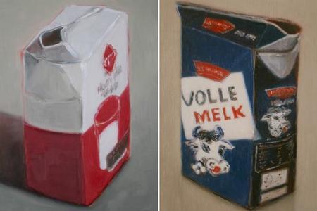 Erica Scheper y sus óleos dedicados a la leche y a la mantequilla