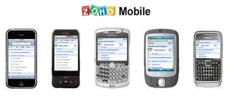 Zoho Mobile, versión para móviles de la suite de aplicaciones
