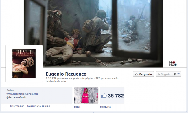 facebook de Eugenio Recuenco