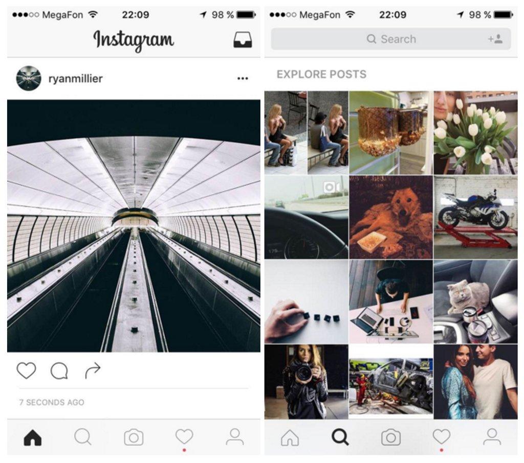 Este es el nuevo diseño que Instagram está probando para sus aplicaciones móviles