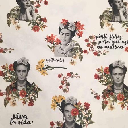 Tela Por Metros De Loneta Estampada Digital Half Panama 100 Algodon Ancho 280 Cm Largo A Eleccion De 70 En 70 Cm Frida Kahlo Viva La Vida Tela por metros de loneta estampada digital - Half Panamá 100% algodón - Ancho 280 cm - Largo a elección de 70 en 70 cm | Frida Kahlo - Viva la vida