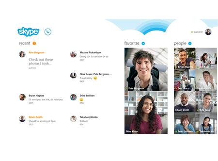 Skype se muestra para Windows 8