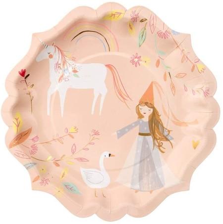Platos desechables princesas
