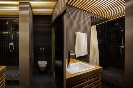 pequeño loft baño