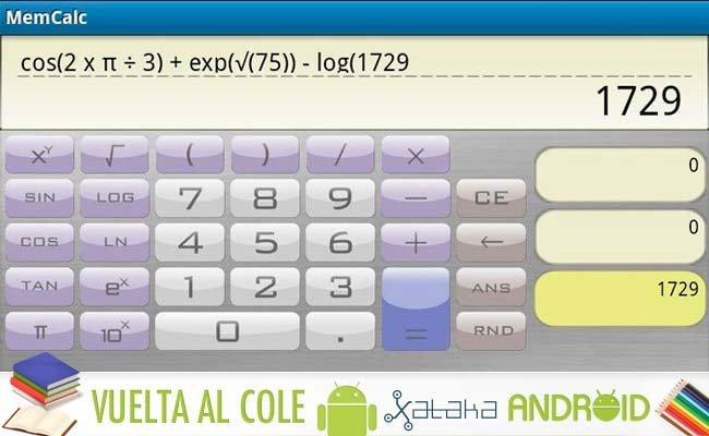 Especial Android Vuelta al Cole: Calculadoras