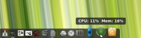 GNOME Do - CPU Monitor Docklet