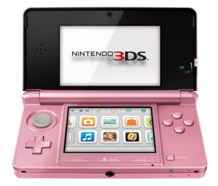 Nintendo 3DS rosa con Nintendogs 3D