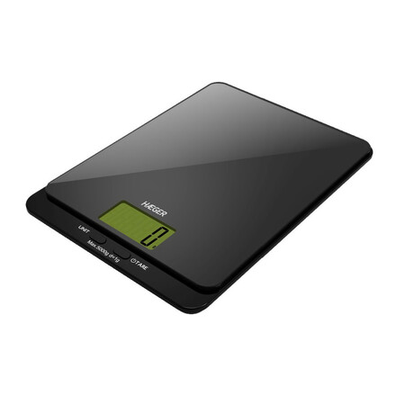Ba Scula De Cocina Digital Haeger Dark Glass 5kg De Capacidad