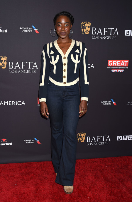 tea party bafta alfombra roja Kirby Howell-Baptiste