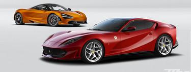 Comparativa: la nobleza del Ferrari 812 Superfast frente a la tecnología del McLaren 720S