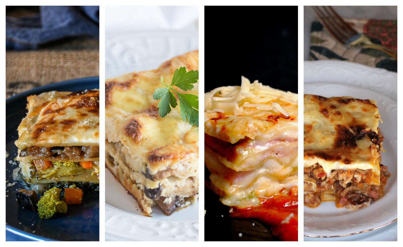 Nueve recetas de lasaña variadas, originales y fáciles de preparar