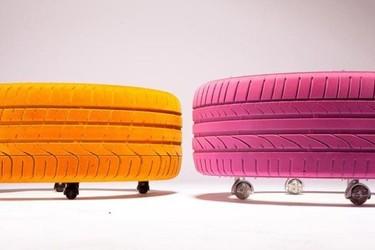 Recicladecoración: mesas de centro hechas con neumáticos