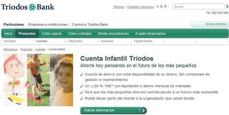 Cuenta infantil de Triodos Bank, al 1,50% TAE y sin comisiones