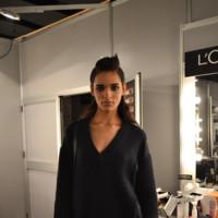 Modelo sala maquillaje Mercedes-Benz Fashion Week Madrid Otoño-Invierno 2014/2015