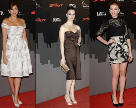 Scarlett Johansson, Paz Vega y Eva Mendes en la noche madrileña