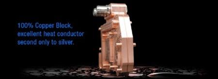 Bloque de refrigeración líquida de cobre para la 9800 GX2