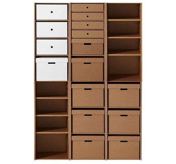 Karton muebles para toda tu casa de cart n - Estanteria carton ...