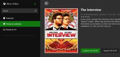 'The Interview' ya está disponible en Xbox Vídeo
