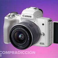 Esta cámara sin espejo está a precio mínimo en Amazon: Canon EOS M50 con objetivo 14-45mm por sólo 496 euros