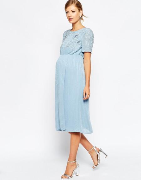 Vestido Azul Cielo Asos Maternity