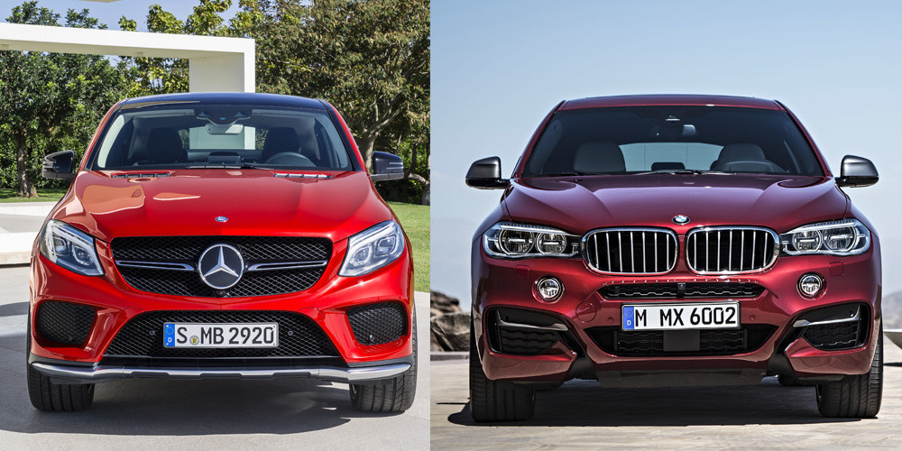 Comparativa visual entre el mercedes benz gle coup y el for Mercedes benz gle coupe vs bmw x6