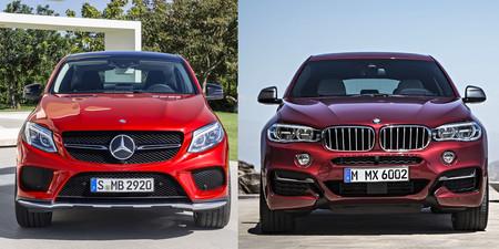 Comparativa Visual Entre El Mercedes Benz Gle Coupe Y El Bmw X6