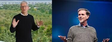 Tim Cook de Apple, Reed Hastings de Netflix y otros CEO que tienen sus dudas sobre el teletrabajo