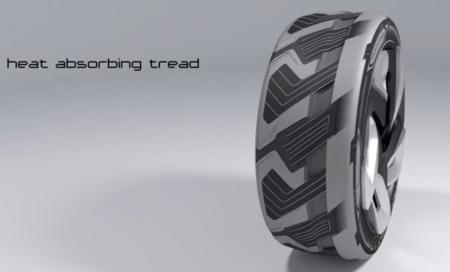 Los neumáticos conceptuales de Goodyear convierten el calor en energía eléctrica