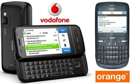 Precios Nokia C6 con Vodafone y Nokia C3 con Orange