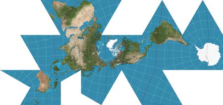 Mapa Dymaxion de Buckminster Fuller.