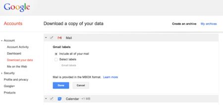 Google permitirá descargar todos nuestros correos de Gmail en un solo archivo