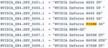 NVidia GeForce 9500M, lo próximo para portátiles