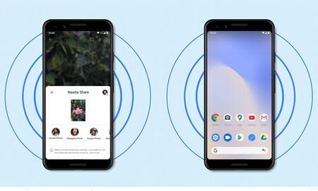 Google ya tiene lista la tranferencia en grupo para 'Nearby Share': envío de archivos a cuatro dispositivos a la vez