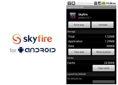 Skyfire 3.0.1, actualización con ligeras mejoras en Froyo