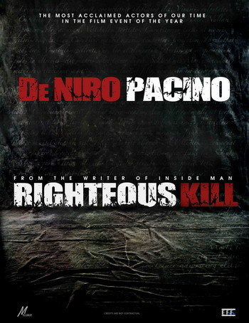 Póster de 'Righteous Kill' con Robert De Niro y Al Pacino