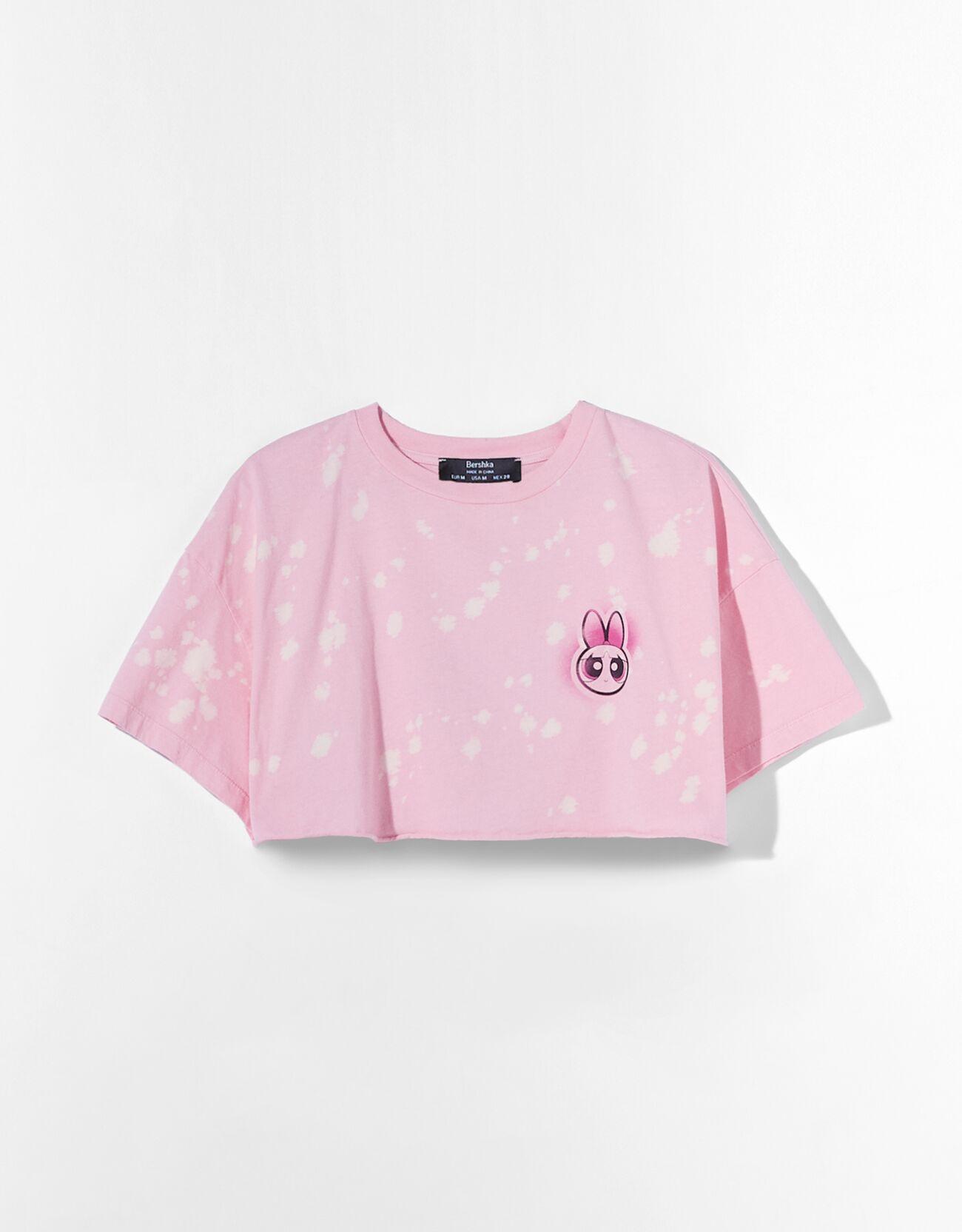 "Camiseta cropped Supernenas ""Pétalo""."