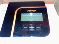 Router VoIP con pantalla LCD que muestra la información