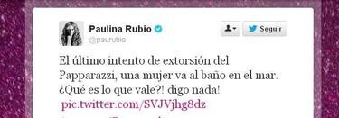 Paulina Rubio nos da lecciones de cómo mear en el mar y lavarse el fafarique